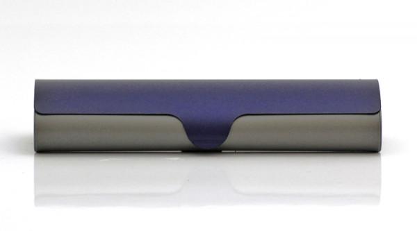 Aluminiumetui - grau/blau - klein