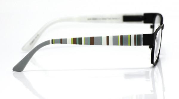 eye:max Wechselbügel 5566.07 Kunststoff Vertikale Streifen grau,grün,weiss 135mm