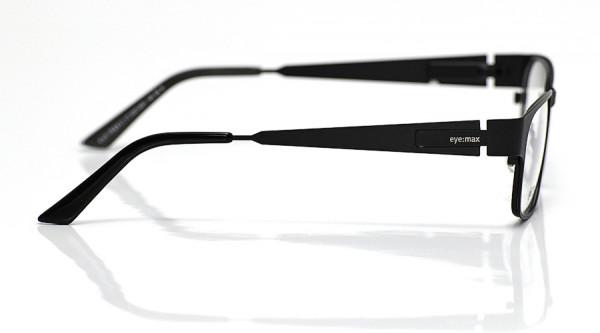 eye:max Wechselbügel 5527.0001 Edelstahl black tie matt 140mm