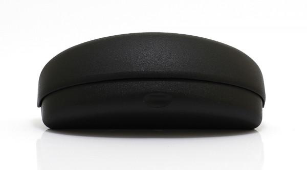 Kunststoffhartschale für gebogene Brillen - schwarz - Größe S