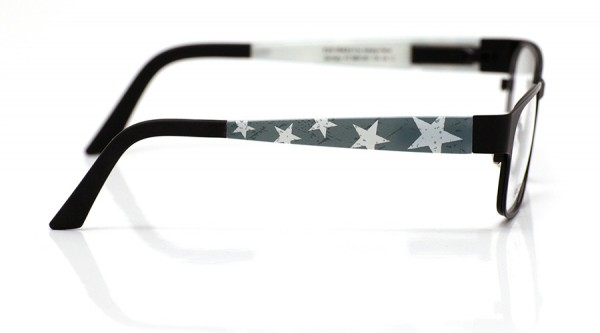 eye:max Wechselbügel 5891.051 Kunststoff Sterne groß dunkelgrau 135mm