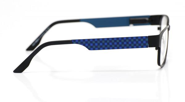 eye:max Wechselbügel 5577.21 Edelstahl mit Karomotiv blau 135mm