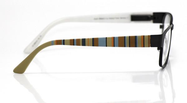 eye:max Wechselbügel 5566.04 Kunststoff Vertikale Streifen beige,rotbraun 135mm