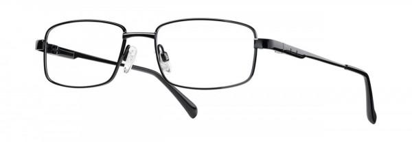 Ersatzbrille für die Ferne, schwarz mit Kunststoffgläsern ohne Entspiegelung
