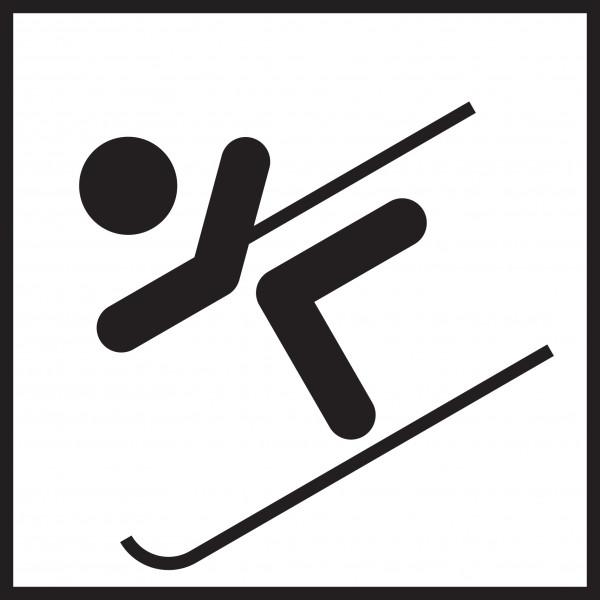 Microfasertuch mit Motiv Skifahrer