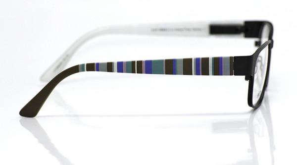 eye:max Wechselbügel 5566.06 Kunststoff Vertikale Streifen braun,blau,türkis 135mm