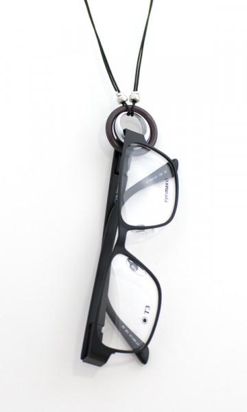 Collier mit Ring - elegante Brillenkette - graphit