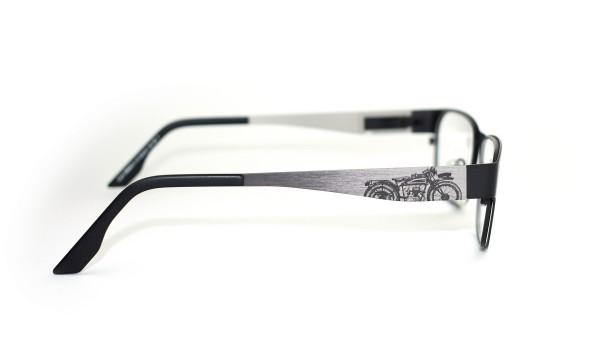eye:max Wechselbügel 5534.03.140 Edelstahl Motorrad auf grau 140mm