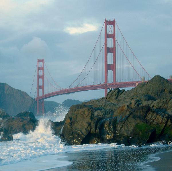 Microfasertuch mit Motiv Golden Gate Bridge