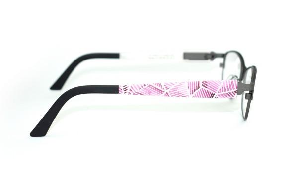 eye:max Wechselbügel 5437.09 Kunststoff Aquarell Muster rosa 135mm