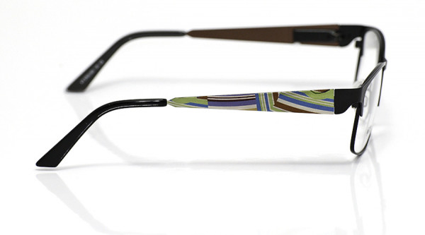 eye:max Wechselbügel 5700.003 Edelstahl silber/grün/lila Linien 135mm