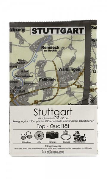 Microfasertuch mit Motiv Stadtplan - Stuttgart
