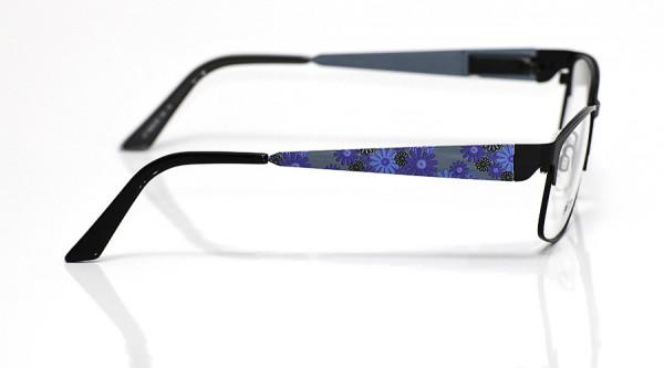 eye:max Wechselbügel 5525.05 Edelstahl blau Blumen 140mm