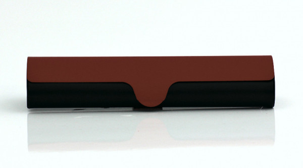 Aluminiumetui - schwarz/rot - groß
