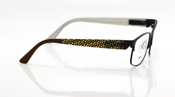 eye:max Wechselbügel 5629.02 Kunststoff braun Punkte 3D 135mm