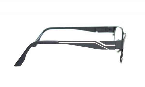 eye:max Wechselbügel 5535.02 Edelstahl schwarz mit silber Linien 140mm