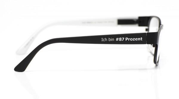 """Charitybügel eye:max Wechselbügel 5656.03 Kunststoff """"Ich bin #87 Prozent"""" 135mm"""