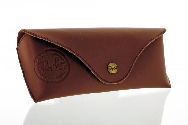 Original Ray-Ban Etui - braun - Größe L - glatt