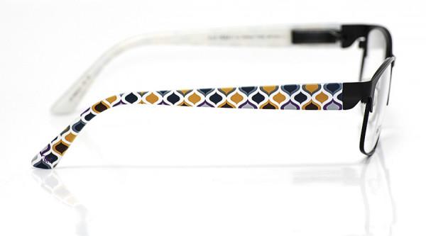 eye:max Wechselbügel 5840.01 Kunststoff Zwiebelmuster 70er orange blau 135mm