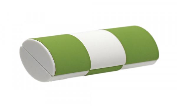 Zauberetui, Wendeetui - Größe S - hellgrün/weiß zu gelb/weiß