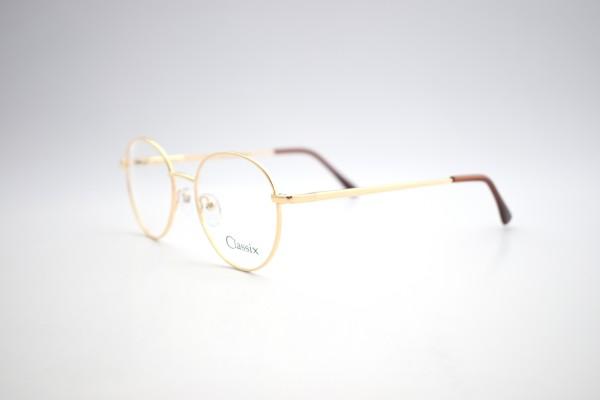 Ersatzbrille für die Ferne, gold mit Kunststoffgläsern ohne Entspiegelung