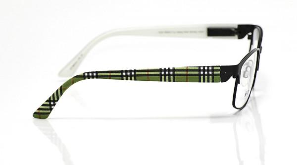 eye:max Wechselbügel 5653.01 Kunststoff schwarz grün karo 135mm