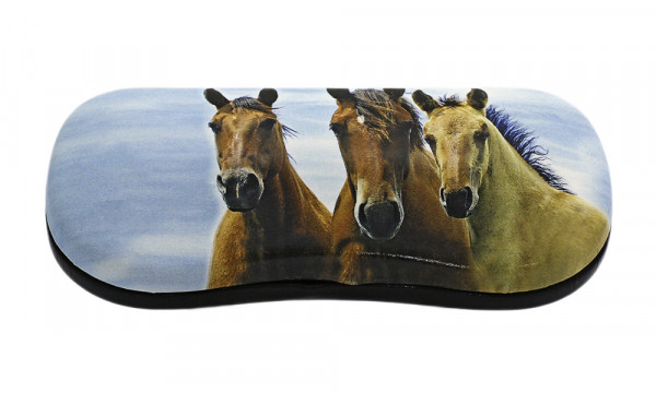 Klappetui mit Motiv - drei Pferde