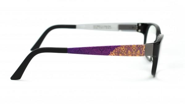 eye:max Wechselbügel 5573.111 Kunststoff Mandala lila, gold 135mm