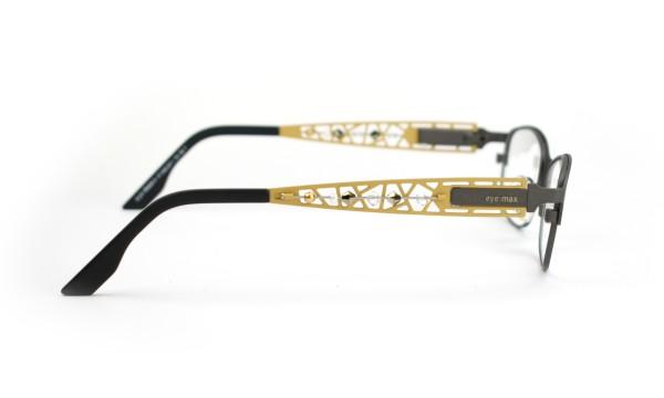eye:max Wechselbügel 5492.0001 Edelstahl gold matt - Straßsteine 135mm