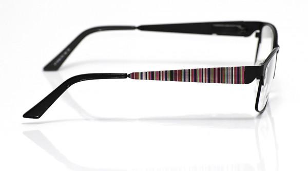 eye:max Wechselbügel 5700.179 Edelstahl pink streifen 140mm