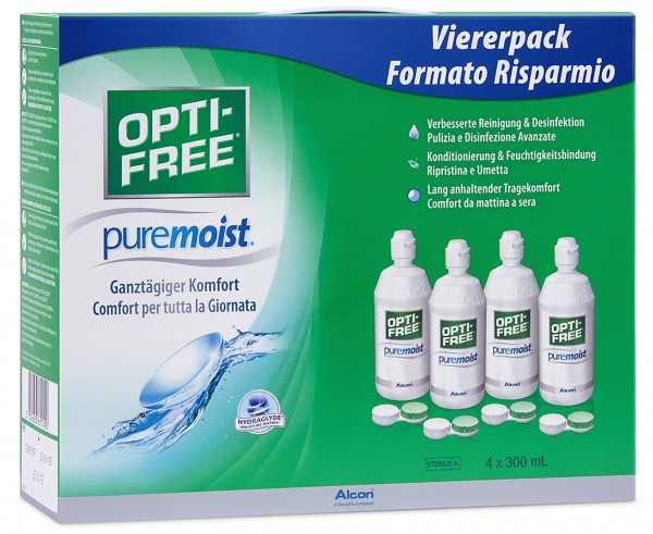 Optifree Pure Moist - Vorratspack 4x300ml