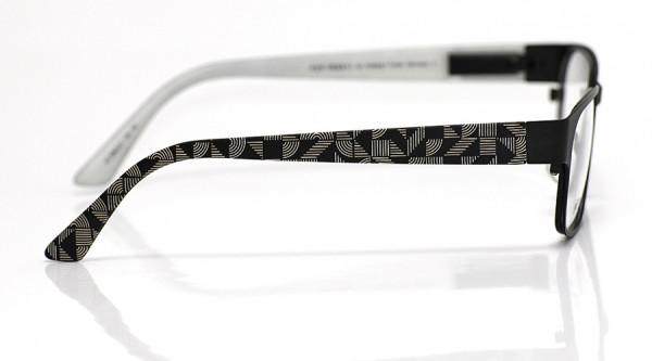 eye:max Wechselbügel 5563.01 Kunststoff Streifenformen schwarz 135mm