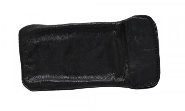 weiches Lederstecketui - Nappaleder - schwarz - groß