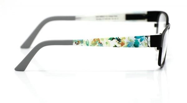 eye:max Wechselbügel 5437.022 Kunststoff Aquarellbüten petrol, weiß 135mm