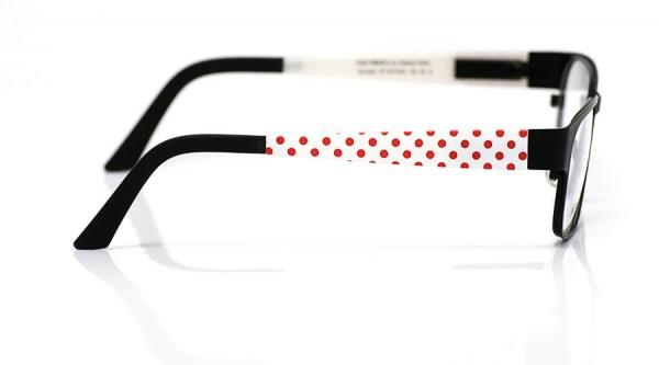 eye:max Wechselbügel 5574.061 Kunststoff Punkte rot weiß 135mm