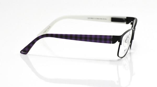 eye:max Wechselbügel 5667.01 Kunststoff Block Streifen Karo lila 135mm