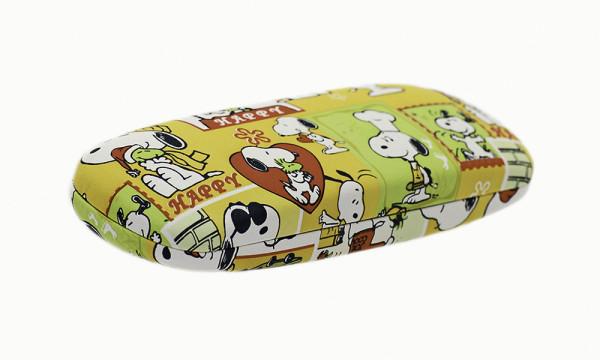"Brillenetui mit Motiv ""Snoopy"" - gelb"