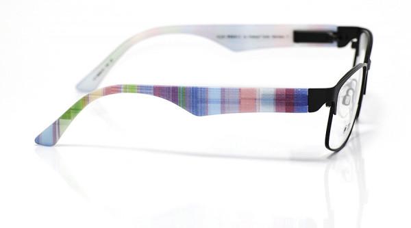 eye:max Wechselbügel 5808.02 Kunststoff Streifen blau mix 135mm