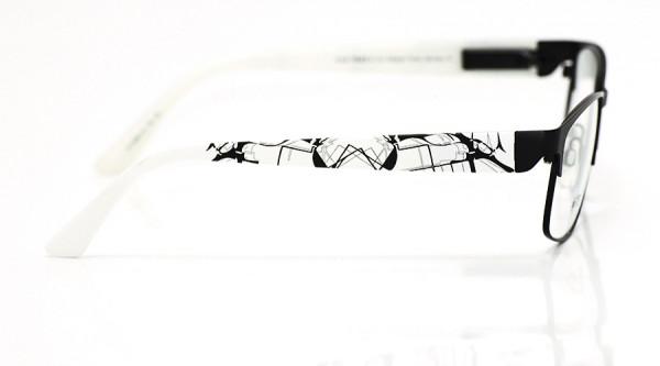 eye:max Wechselbügel 5883.10 Kunststoff weiß schwarz marmoriert 135mm