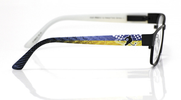 eye:max Wechselbügel 5558.02 Kunststoff Eishockey Spieler blau gelb 135mm