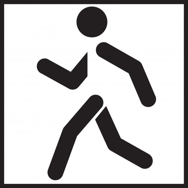 Microfasertuch mit Motiv Jogger
