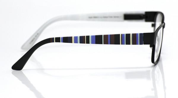 eye:max Wechselbügel 5566.08 Kunststoff Vertikale Streifen d.blau,blau,bordeaux 135mm