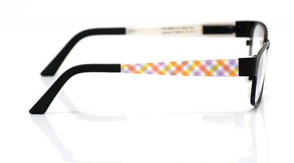 eye:max Wechselbügel 5460.03 Kunststoff Karos gelb, rosa 135mm