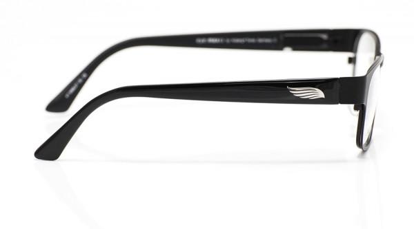 eye:max Wechselbügel 5568.07 Kunststoff schwarz glänzend Flügel, Federn 135mm