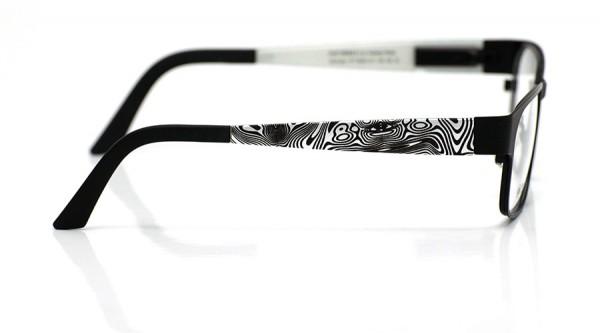 eye:max Wechselbügel 5593.141 Kunststoff marmoriert silber, schwarz 135mm