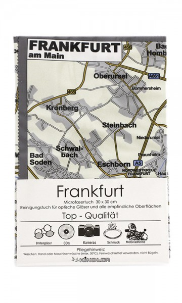 Microfasertuch mit Motiv Stadtplan - Frankfurt