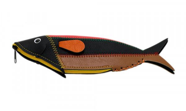 Brillenetui, Federtasche in Fischform
