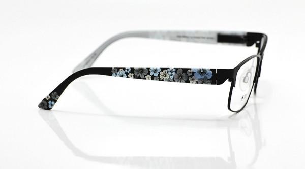 eye:max Wechselbügel 5678.01 Kunststoff schwarz/Hibiskus 135mm