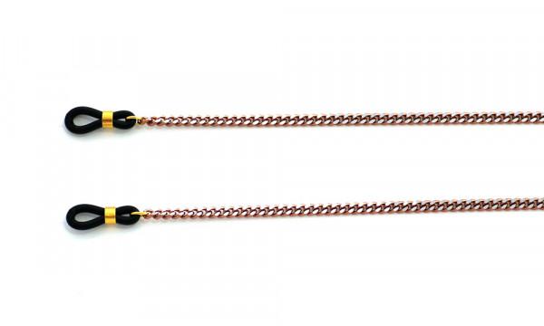 Brillenkette aus Metall - rose