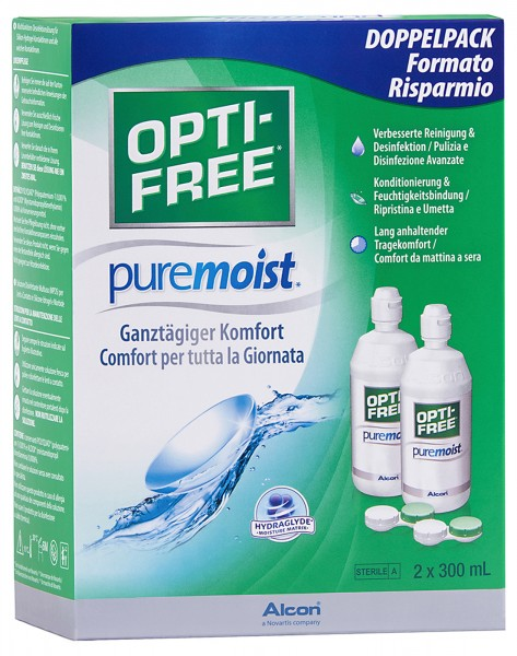 Optifree Pure Moist - Doppelpack 2x300ml